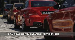 2012 Singapore Yacht Show – BMW M5 Convoy